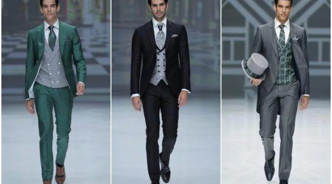 Trajes de chaqueta para novio, padrino e invitados de Ramón Sanjurjo colección 2019